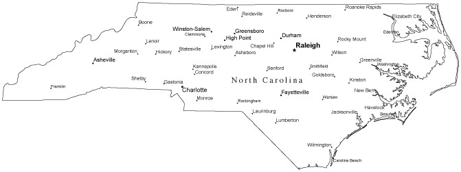 Elegant North Carolina City Map Printable Swimnovacom - Map nc cities